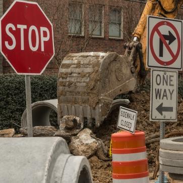9. Excavater Bucket w/Street Signs